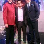 Armstrong Pame With Amitabh Bachchan and Boman Irani in Show Aaj Ki Raat Hai Zindagi