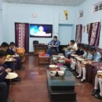 Armstrong Pame doing Dinner with School Students
