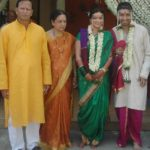 Arzoo Govitrikar with her parents and husband