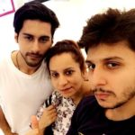 Ayush Anand with his mother Rajni Anand and brother Arjun Anand