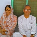Baba Neem Karoli's Daughter Giraja And Her Husband Jagadish Bhatele At Vrindavan Ashram