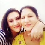 Eva Grover with her mother