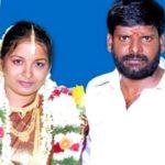 Ganja Karuppu with his wife Sangeetha