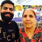 Gaurav Chaudhary with his mother
