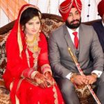 Hercharn Singh with his wife
