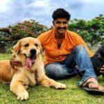 Kamal Kamaraju with his dogs