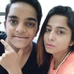 Kate Sharma with her brother