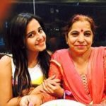 Kate Sharma with her mother
