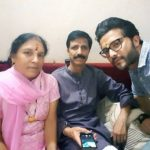 Lalit Bisht with parents