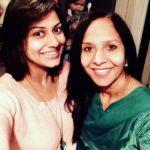 Mala Saraiya with her mother