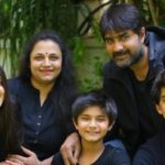 Meka Srikanth with his wife and children