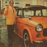 Mohammed Rafi With his Car FIAT Padmini