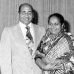 Mohammed Rafi With his Wife