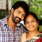 Naveen Chandra with his mother