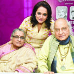 Pandit Jasraj With his Wife and Daughter