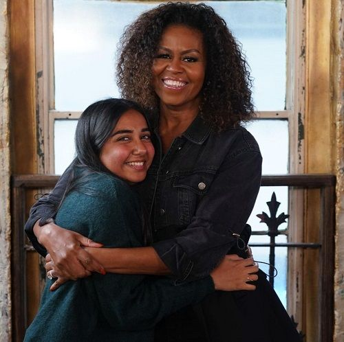 Prajakta Koli With Michelle Obama