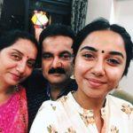 Prajakta Koli with her parents