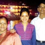 Rupali Bhosle with her parents