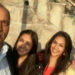 Sadhana Thakur with her husband and daughters