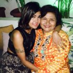Sakshi Pradhan with her mother