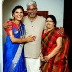Shivada Nair with her parents