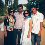 Shritama Mukherjee with family