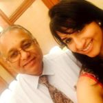 Shwetha Shekar with her father