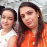 Sia Bhatia with mother