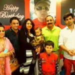 Siddharth Shivpuri with his Mother, Brother-In-Law, Sister, Father and his Nephews (From left to right)
