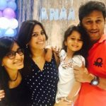 Smita Bansal with husband and daughters