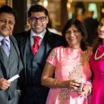 Smita Bansal with parents and brother