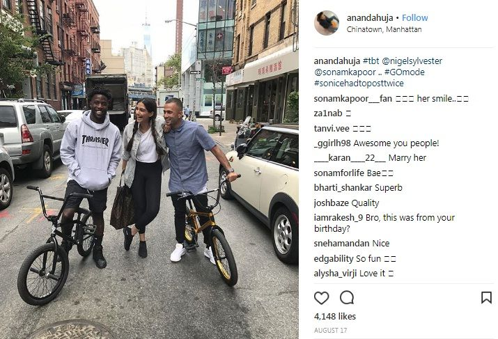 Sonam Kapoor and Anand Ahuja in New York