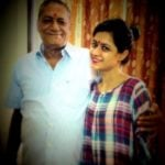 Sonia Balani with her father
