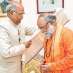 Sri Ram Nath Kovind Current President of India, Revering Brahmrishi Shree Kumar Swami Ji