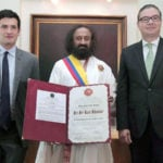 Sri Sri Ravi Shankar Conferred With Colombia's Highest Civilian Award