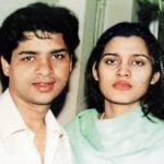 Suhaib Ilyasi with his wife Late Anju