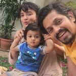 Suhasi Goradia Dhami with husband and son