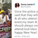 Sunny Leone - Activists protesting against her performance in Bengaluru