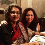 Tarana Raja Kapoor with mother
