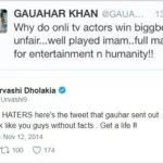 Urvashi Dholakia nad Gauhar Khan's Twitter war