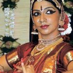 VJ Bhavana in Bharatnatyam attire