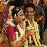 VJ Bhavana with her husband NIkhil