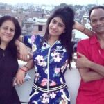 Vindhya Tiwari with parents