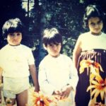 Waseem Mushtaq with his sisters- Childhood Picture