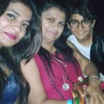 Yash Mistry with mother and sister