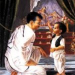 A. C. Bhaktivedanta Swami Prabhupada Learning The Methods of Worshipping Krishna From His Father- An Imaginary Picture