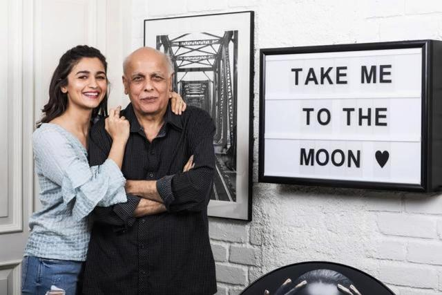 Alia Bhatt With Father In Her House
