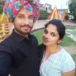 Alok with his wife Riya