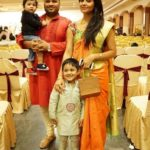 Anasuya Bharadwaj with her husband and sons
