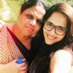 Anasuya Bharadwaj with her mother